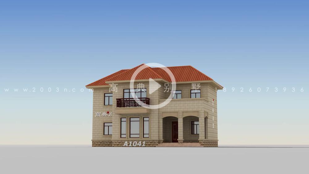 简欧风格乡村二层别墅设计图