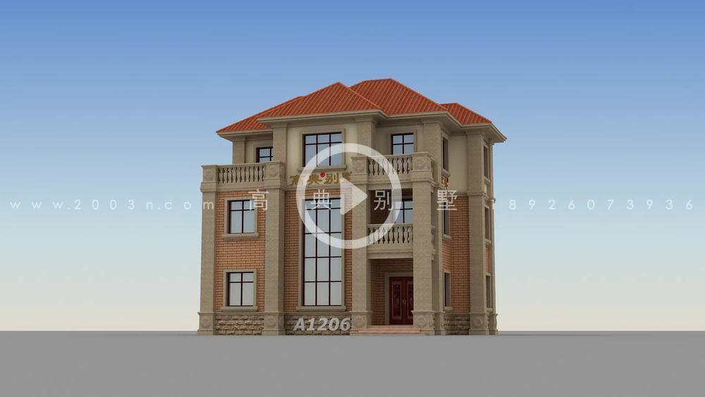 华丽的欧式别墅设计,回村里建一栋,人人跑来效仿