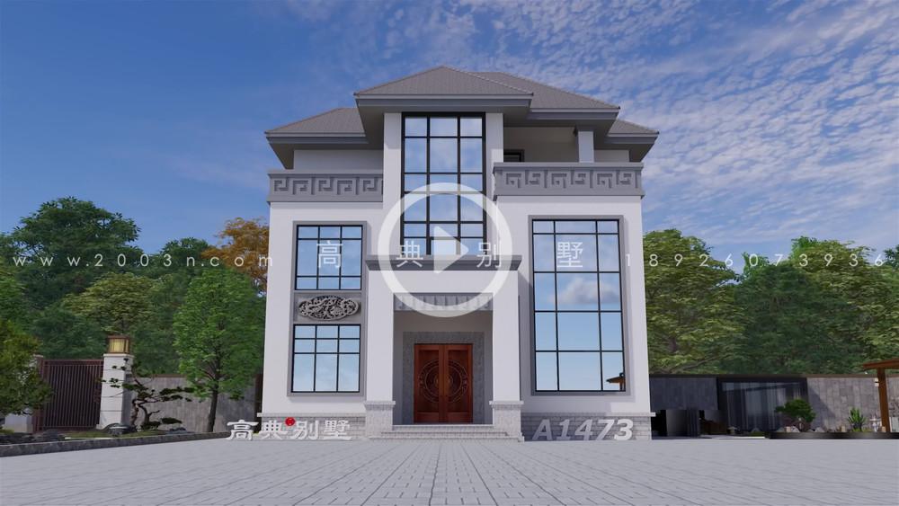 复式三层小别墅,建在家乡绝对能让你够体面