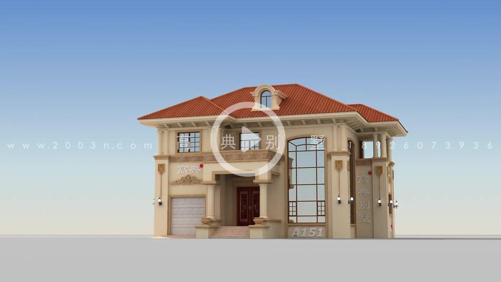 与众不同的意大利风格两层别墅效果图