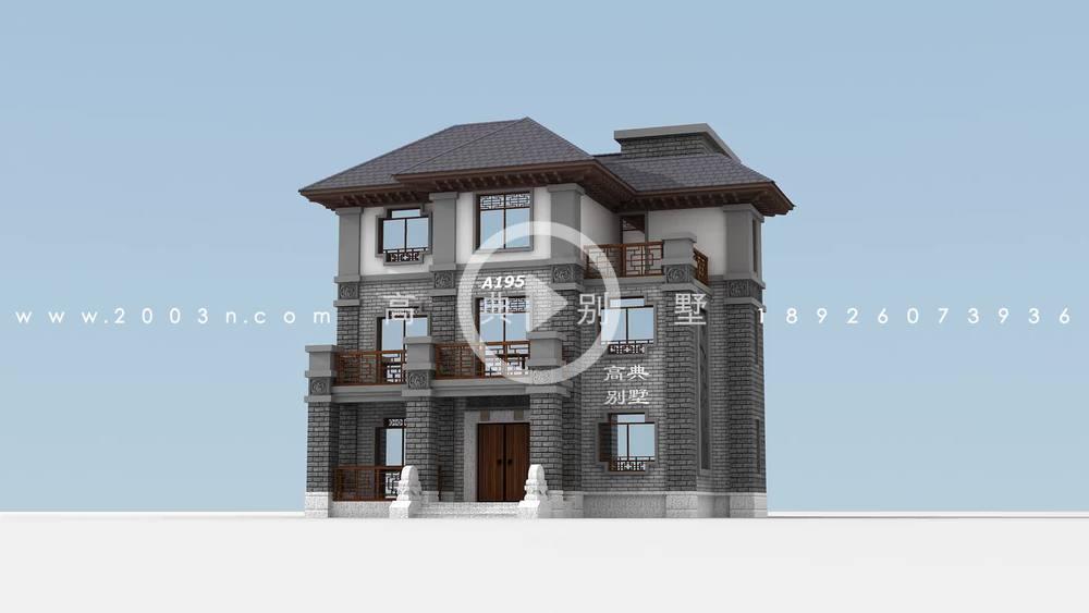 儒雅气质中式风格自建别墅设计图纸