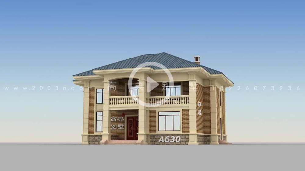 欧式风格二层楼复式别墅设计图
