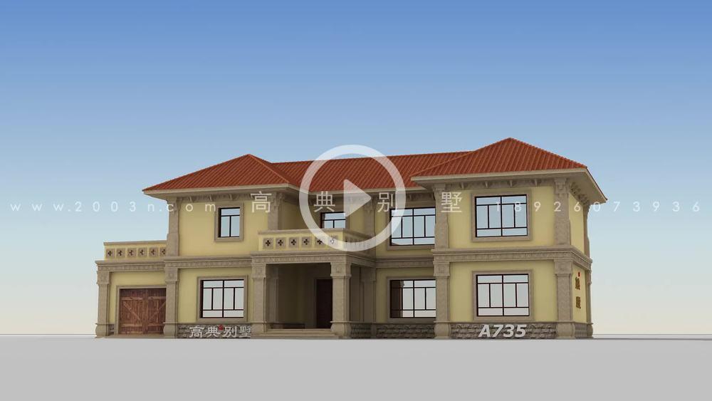 农村两层别墅的设计图质量高、实用、舒适。