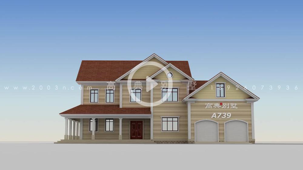 乡村别墅带停车位设计图纸,两层房型计划方案