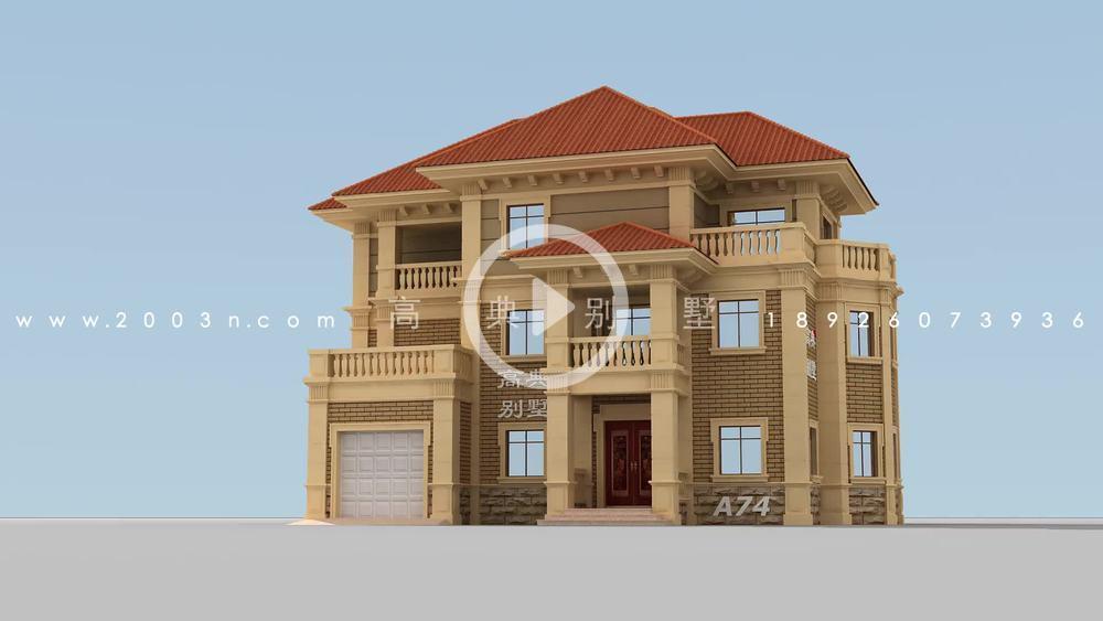 法式三层别墅设计图,含施工图