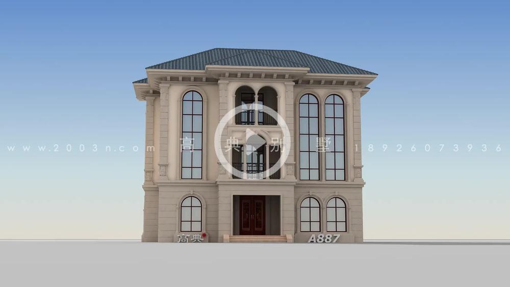 外观耐看的欧式小别墅效果图