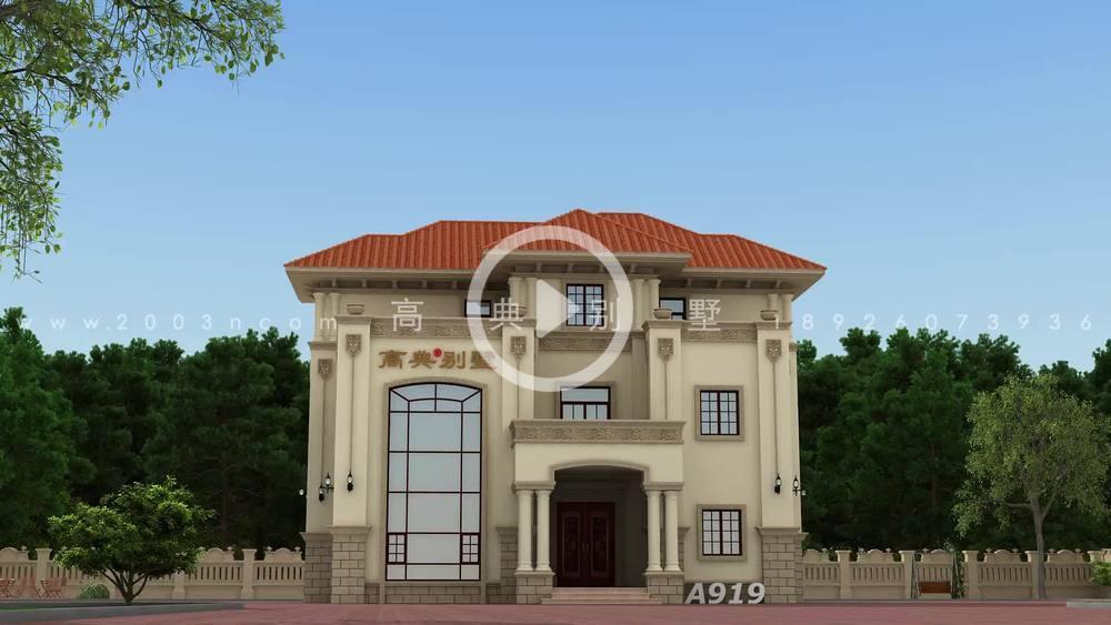 高档的意大利风格三层别墅设计图