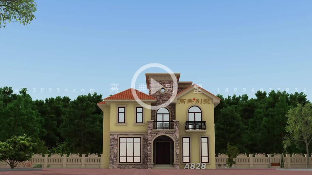 欧式三层别墅住宅设计,外观温馨典雅