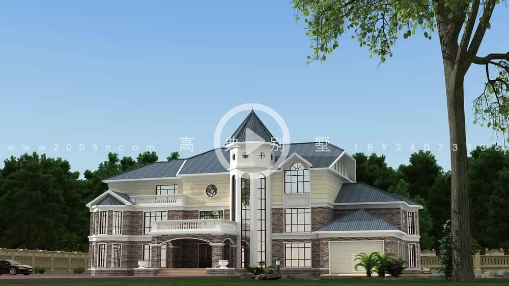 欧式风格三层别墅,豪华别墅设计图纸