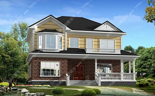 农村房屋设计效果图二层别墅设计图首层