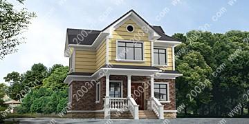 农村二层小别墅效果图首层88平方米