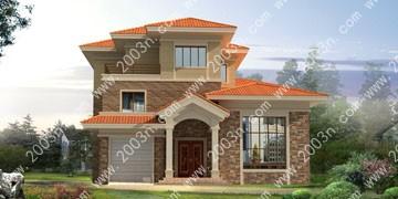 农村别墅设计效果图A409号别墅图纸首层217平方米