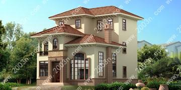 小户型别墅外观设计图纸首层145平