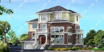三层半别墅设计图纸首层191平
