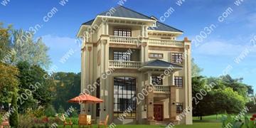 欧式四层别墅设计效果图首层139平