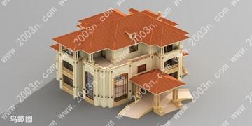 欧式别墅图片大全 别墅设计图纸及效果图首层613平