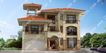 别墅设计图纸及效果图大全首层205平