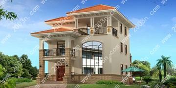 乡村小别墅外观设计首层136平
