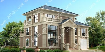 两层半别墅设计图首层185平
