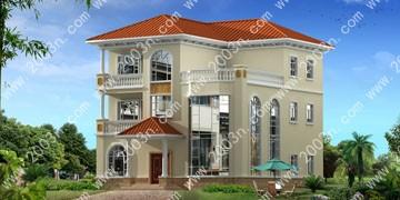 自建房私家别墅设计首层153平