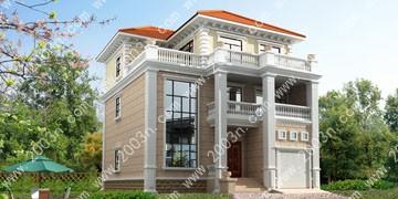 欧式二层半别墅设计图纸首层140平