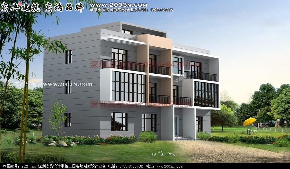 湖北农村简单小楼房设计图