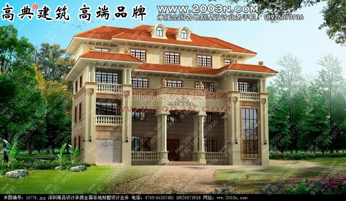 四层别墅设计图两个颜色效果图