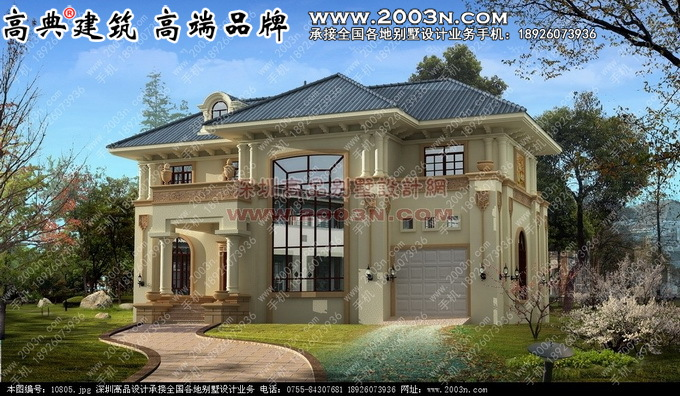 三层二两层别墅建筑设计图21张 别墅设计外观效果图 别墅设计图纸及