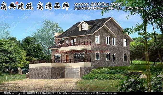 二层小别墅建筑设计图