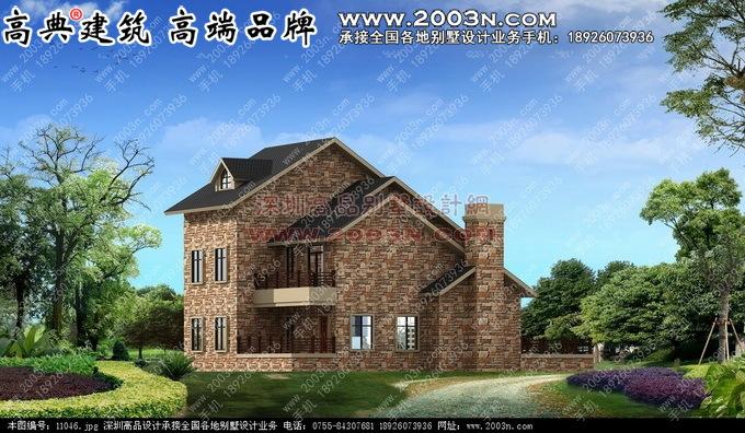 二层小别墅建筑设计图 别墅设计外观效果图 别墅设计图纸及效果图大