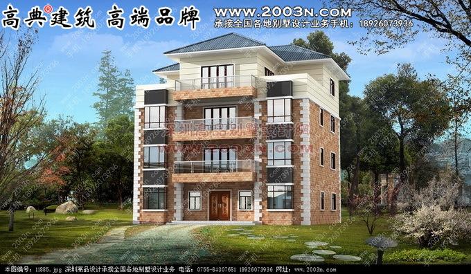 四层高档别墅 私人 豪宅 欧式风格别墅 外观 设计