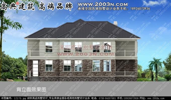 北方两层别墅大气两方案 别墅设计外观效果图 别墅设计图纸及效果图