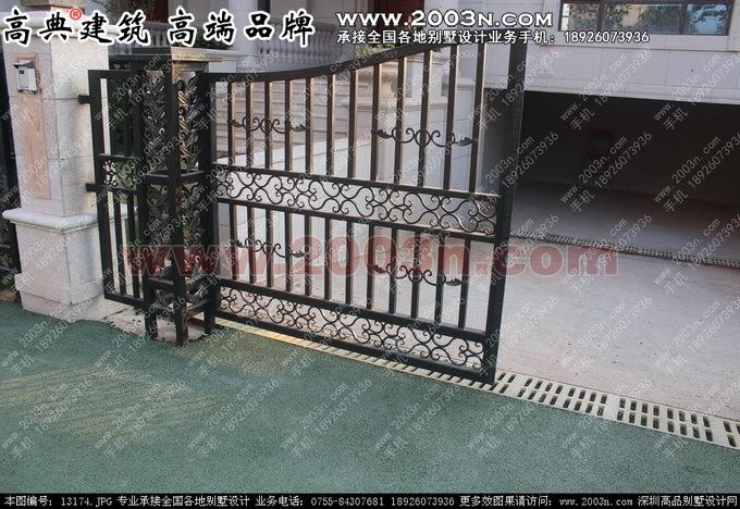 东江湾f户型别墅设计地下室车库双排水沟设计