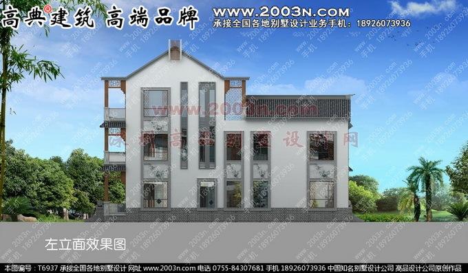 中式别墅外观效果图高品中式别墅外观效果图