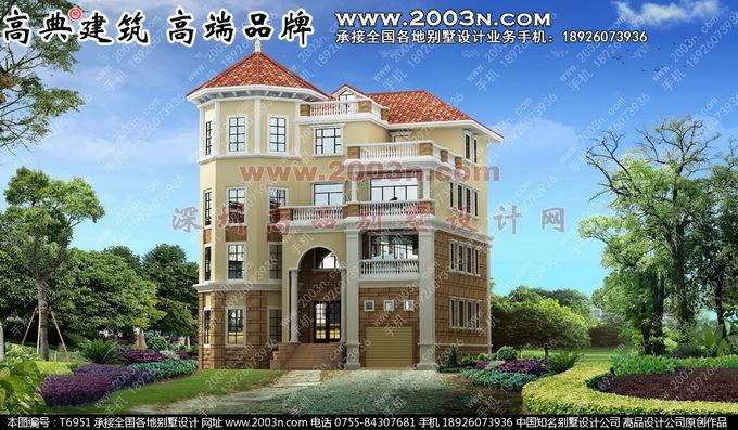 欧式别墅四层外观