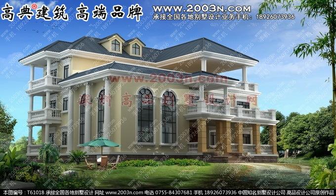 农村房屋设计图三层外观效果图