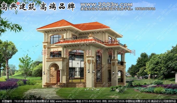 层半楼房设计图农村三层小别墅设计高清图片
