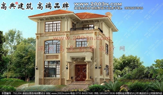 求农村房屋设计图(三层)我得地基是长16米宽只有8米