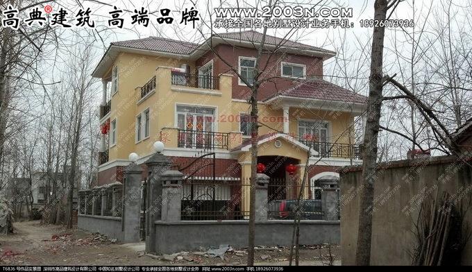 湖南新农村别墅设计图展示