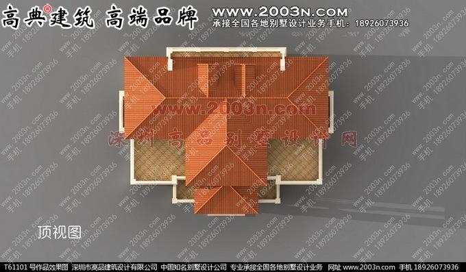深圳高品设计T61101号欧式三层双拼别墅设计图及实景高清图片