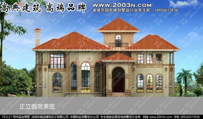 深圳高品设计t61117号别墅作品实景两层农村豪华私家