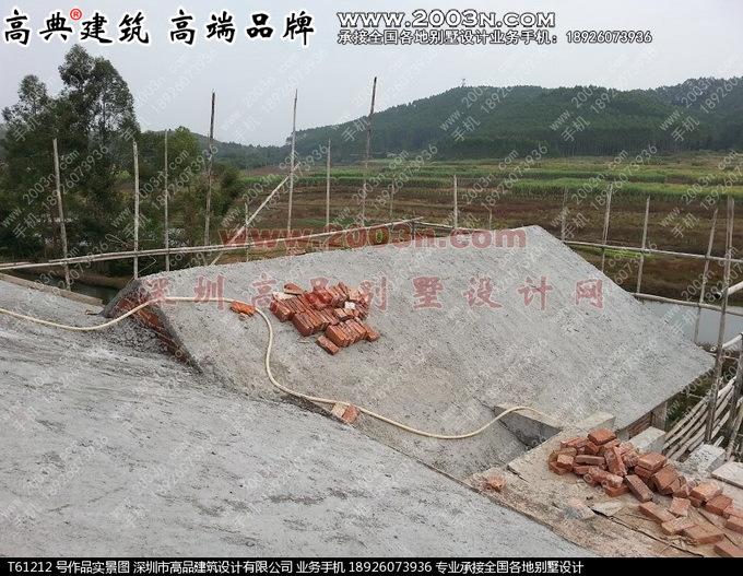深圳高品设计t61212号农村三层小别墅图纸及实景