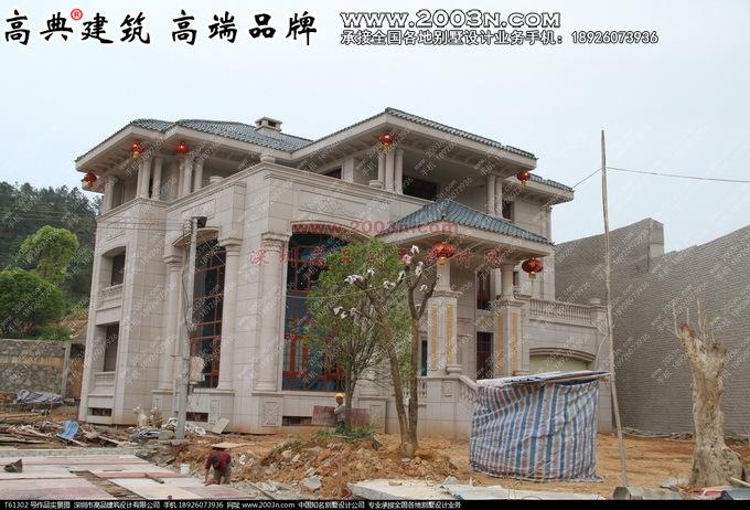 深圳高品设计t61302号豪华别墅设计图纸实景