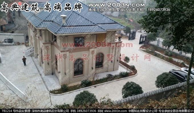 深圳高品设计t61214号别墅实景两层欧式别墅设计图纸