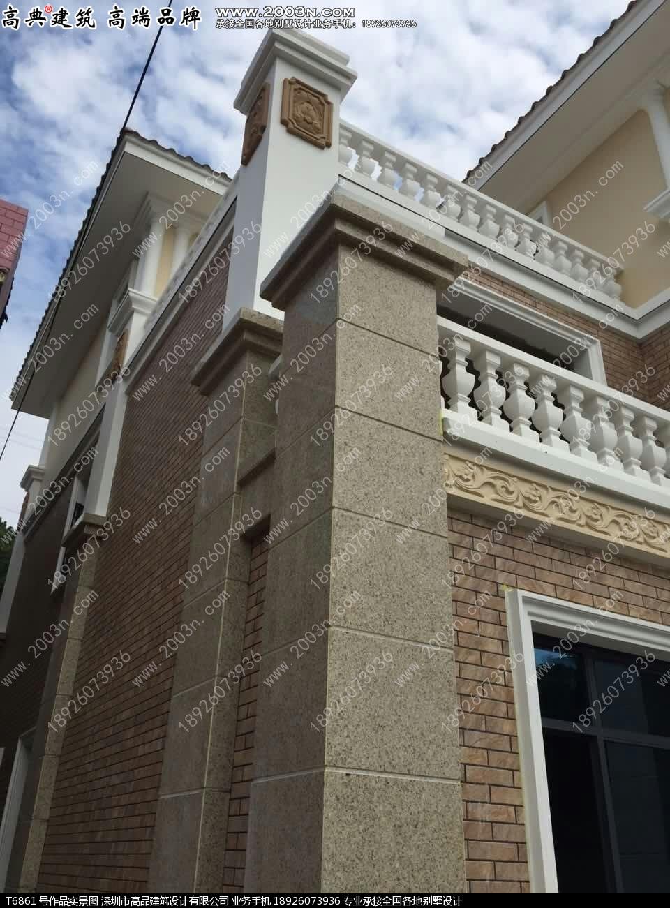 深圳高品设计t61213号别墅实景带八角顶两层乡村豪华