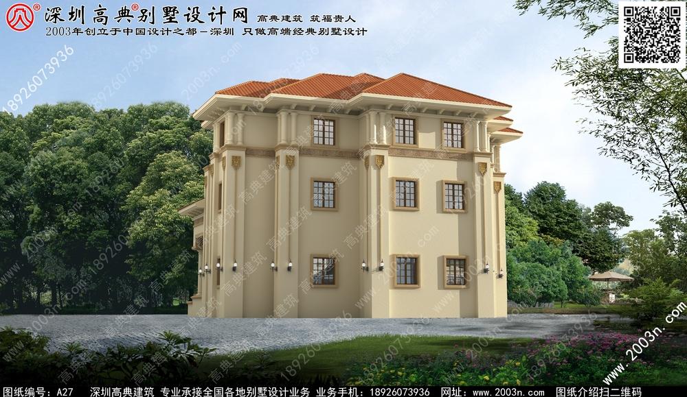农村两层半别墅设计图, 别墅设计图纸及效果图-农村别墅外观设计四