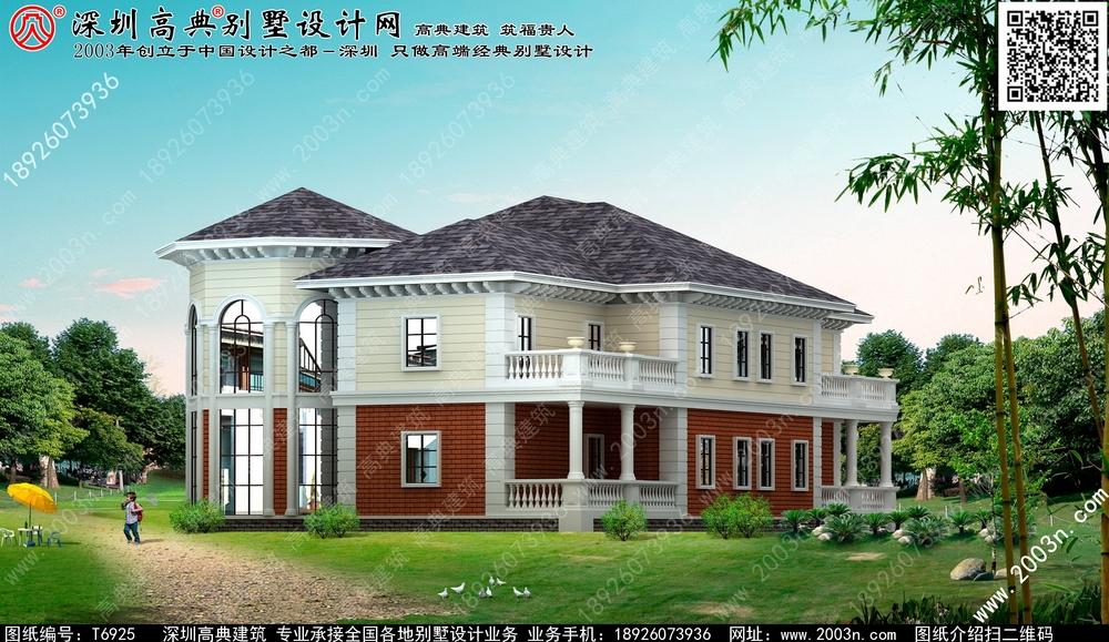 乡村二层别墅设计图 最新别墅设计图-小英式别墅