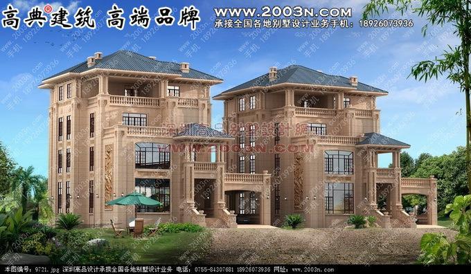 纯石材别墅 - 意大利风格别墅外观设计效果图