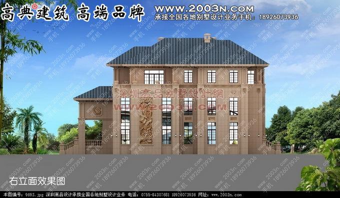 意大利风格别墅外观设计效果图