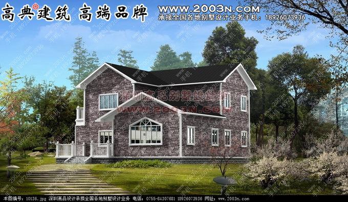 两层乡村别墅设计图纸8张